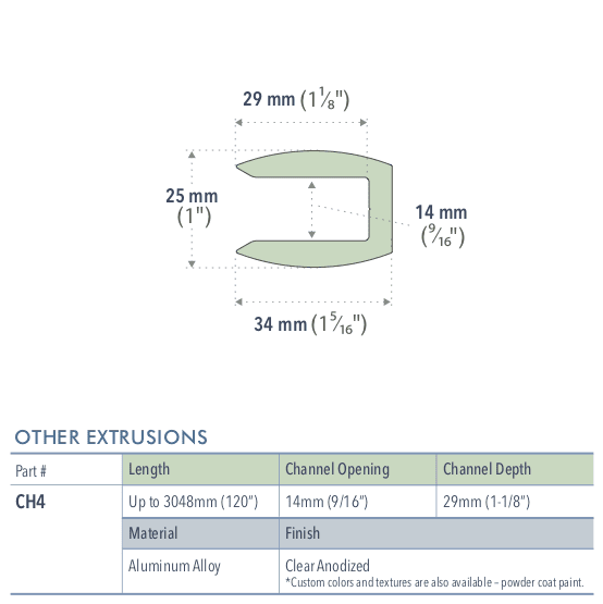 Specifications for CH4/72/L
