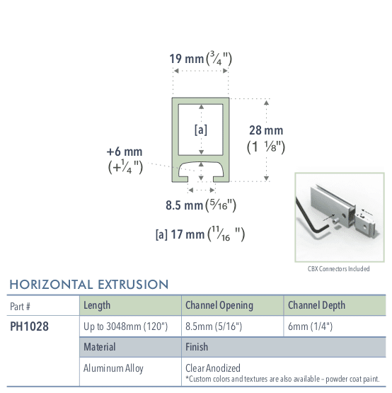 Specifications for PH1028/72/L