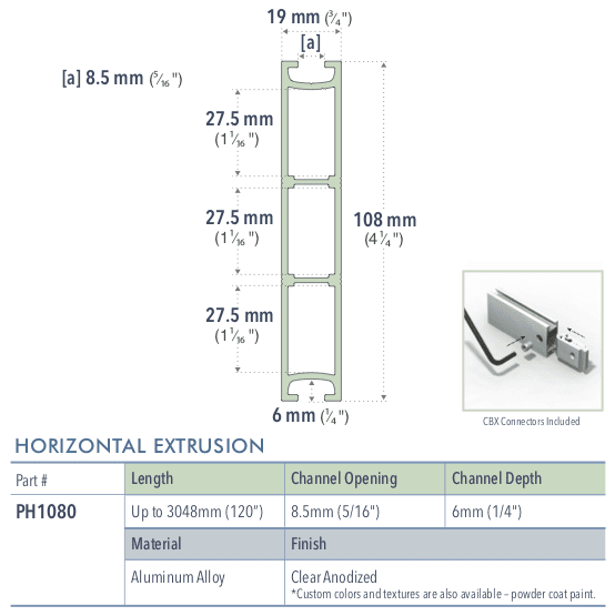 Specifications for PH1080/-/L/C