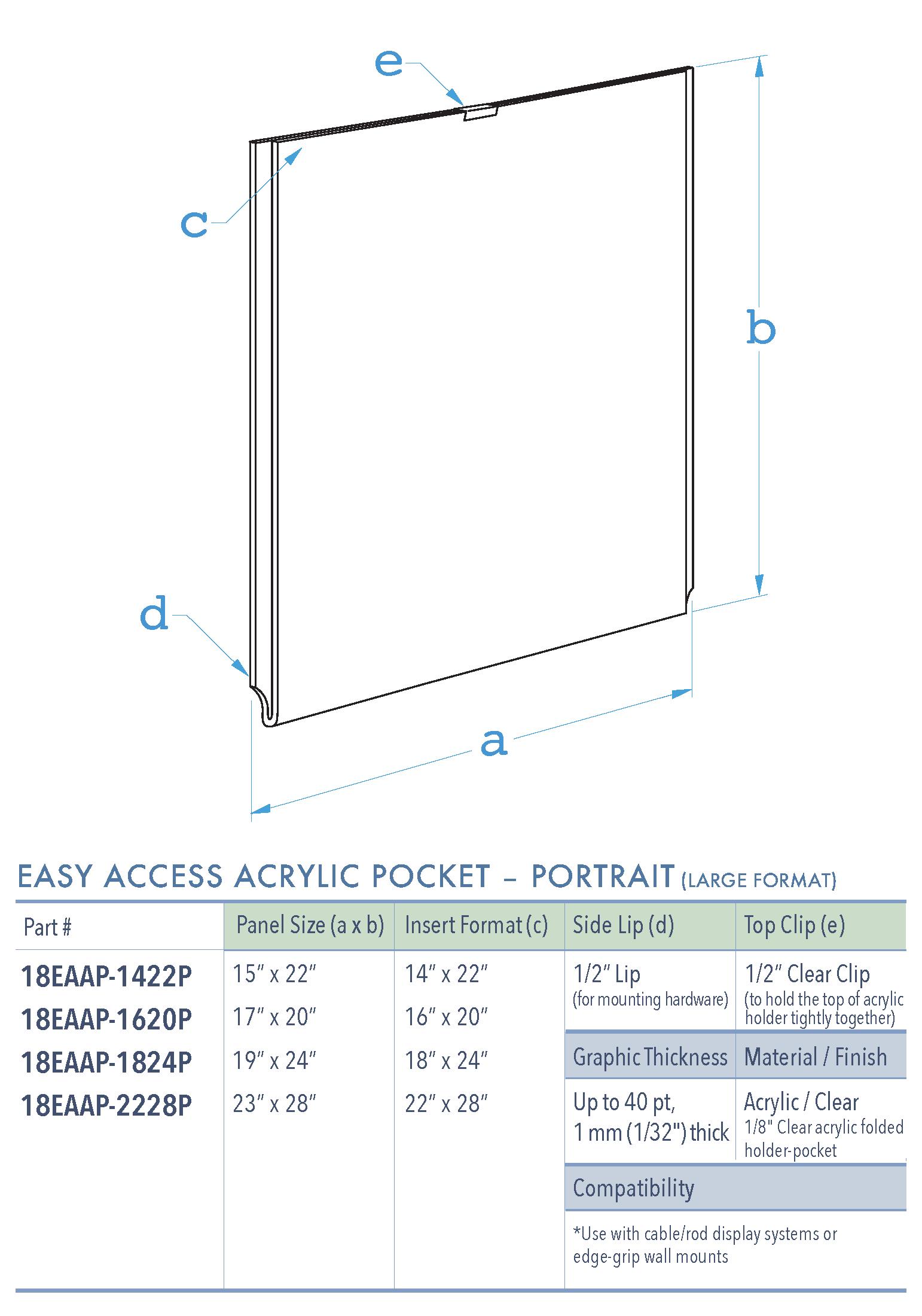Specifications for 18EAAP-INSERT-PORTRAIT-LR