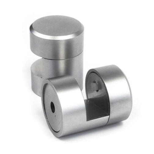 WGR25-10mm-SC-satin-chrome-brass-edge-grip-standoff-support-front-view