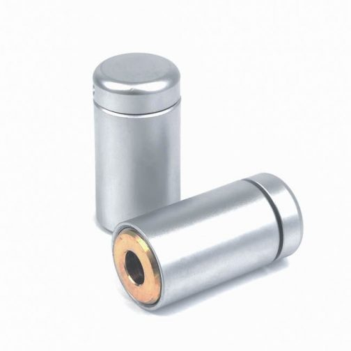 WM05-13-M4-satin-chrome-brass-sign-standoff-support-front-cap