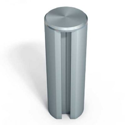 370-108 Stainless Steel End-Cap Threaded for MR-Extrusions
