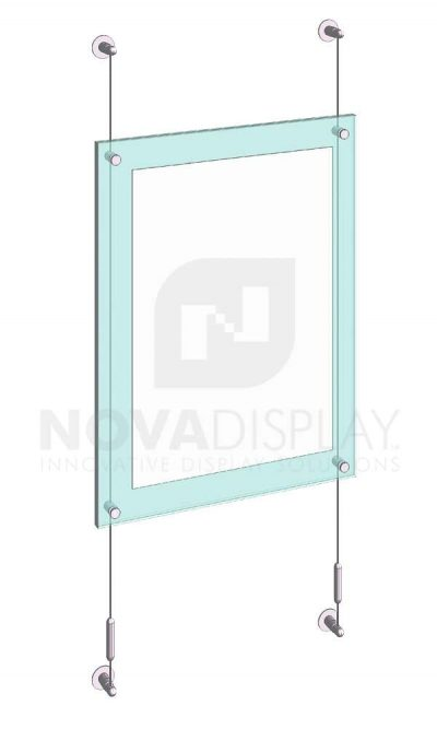 KASP-050 Sandwich Acrylic Poster Display Kit cable wall suspended