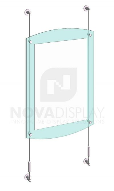 KASP-055 Sandwich Acrylic Poster Display Kit cable wall suspended