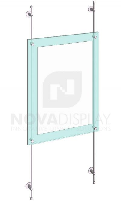 KASP-060 Sandwich Acrylic Poster Display Kit rod wall suspended
