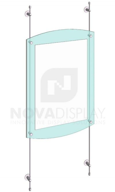KASP-065 Sandwich Acrylic Poster Display Kit rod wall suspended
