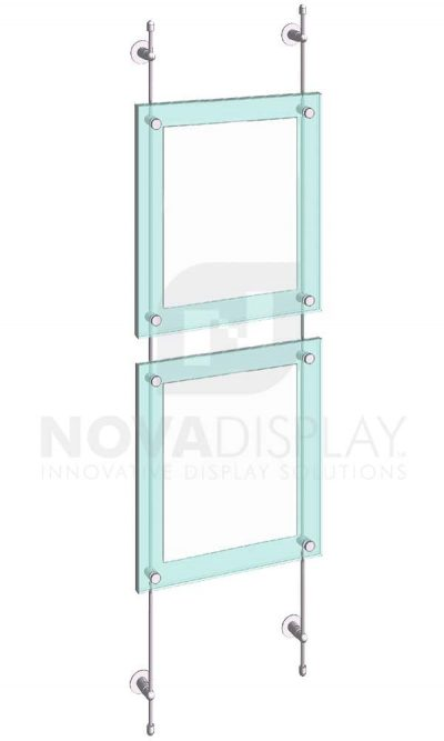 KASP-160 Sandwich Acrylic Poster Display Kit rod wall suspended