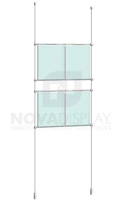 KHPI-001_Hook-on-Poster-Holder-Display-Kit-cable-suspended-hooked-on-horizontal-rods