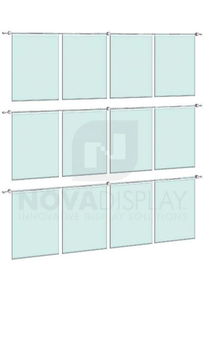KHPI-014_Hook-on-Poster-Holder-Display-Kit-wall-mounted-on-horizontal-rods