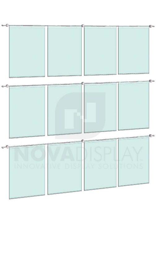 KHPI-014_Hook-on-Poster-Holder-Display-Kit-wall-mounted-on-horizontal-rods