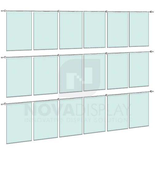 KHPI-015_Hook-on-Poster-Holder-Display-Kit-wall-mounted-on-horizontal-rods