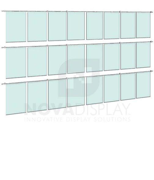 KHPI-016_Hook-on-Poster-Holder-Display-Kit-wall-mounted-on-horizontal-rods