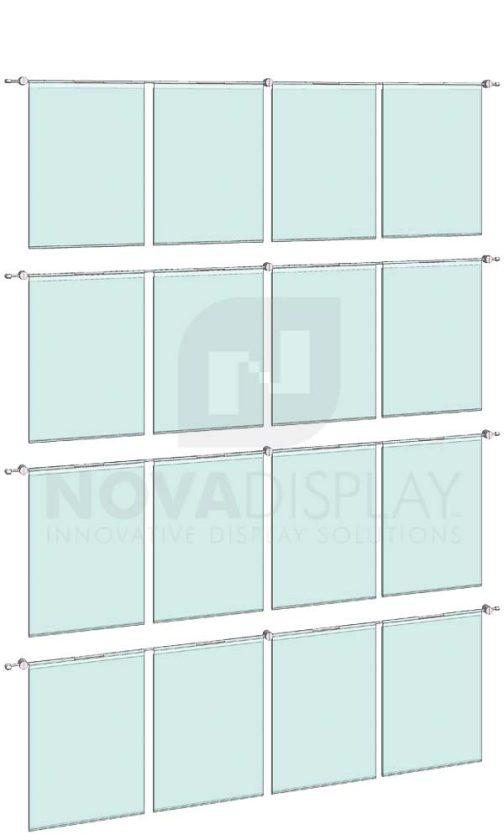 KHPI-020_Hook-on-Poster-Holder-Display-Kit-wall-mounted-on-horizontal-rods