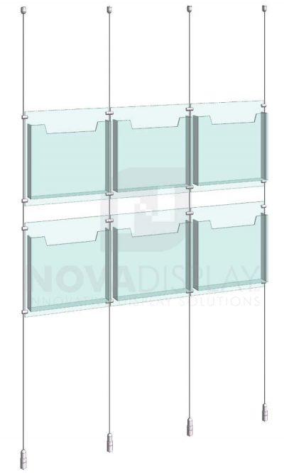 KLD-003_Acrylic-Literature-Display-Kit-cable-suspended