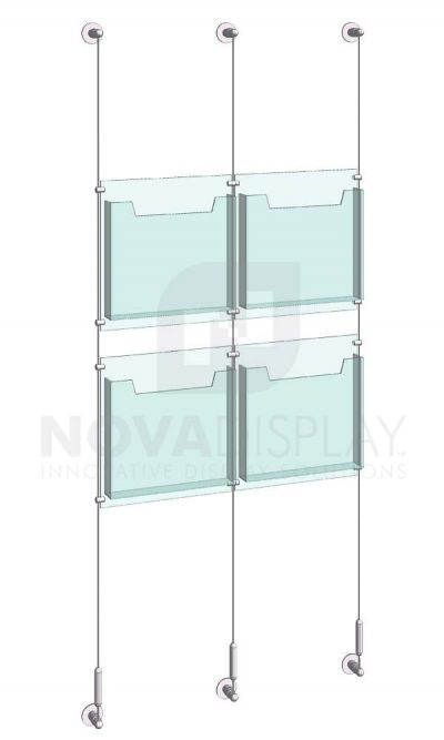 KLD-008_Acrylic-Literature-Display-Kit-wall-cable-suspended