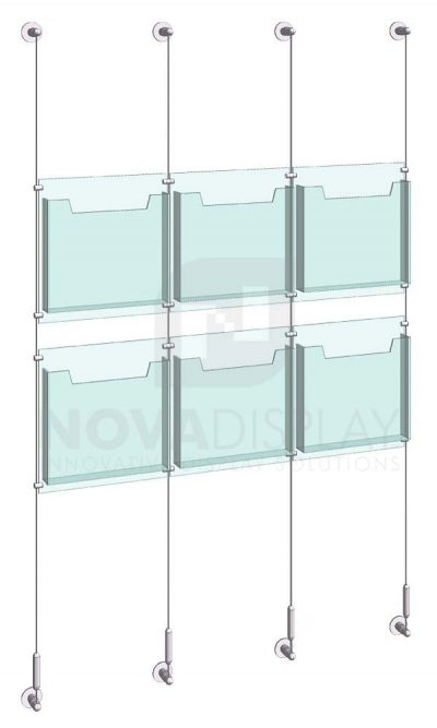 KLD-009_Acrylic-Literature-Display-Kit-wall-cable-suspended