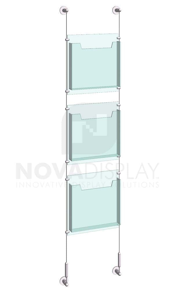 KLD-010_Acrylic-Literature-Display-Kit-wall-cable-suspended