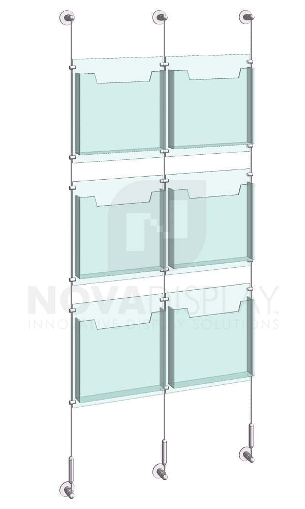 KLD-011_Acrylic-Literature-Display-Kit-wall-cable-suspended