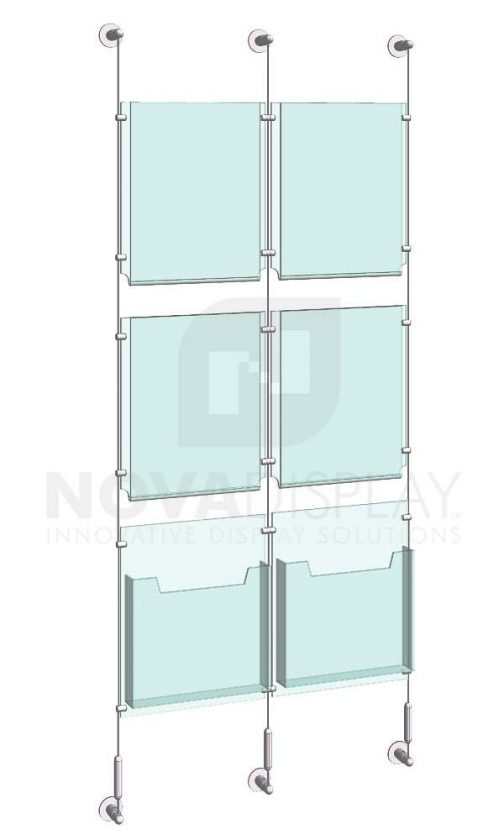 KLD-019_Acrylic-Poster-and-Literature-Display-Kit-wall-cable-suspended