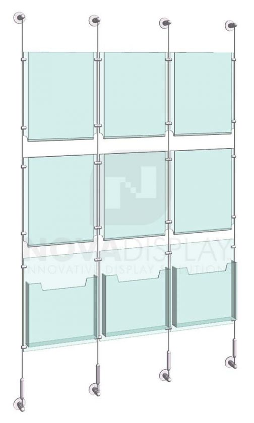 KLD-020_Acrylic-Poster-and-Literature-Display-Kit-wall-cable-suspended