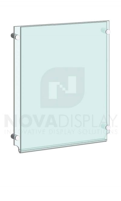 KPI-001_Easy-Access-Poster-Holder-Display-Kit-wall-mounted-on-standoffs