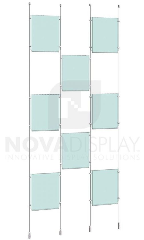 KPI-109_Easy-Access-Poster-Holder-Display-Kit-cable-suspended
