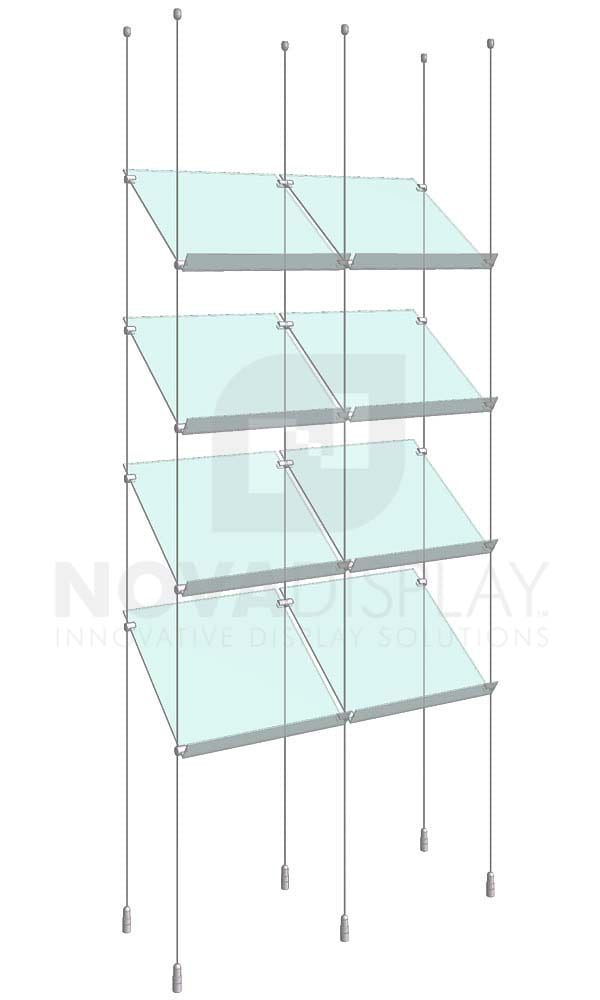 KSP-004_Acrylic-Sloped-Shelf-Display-Kit-cable-suspended