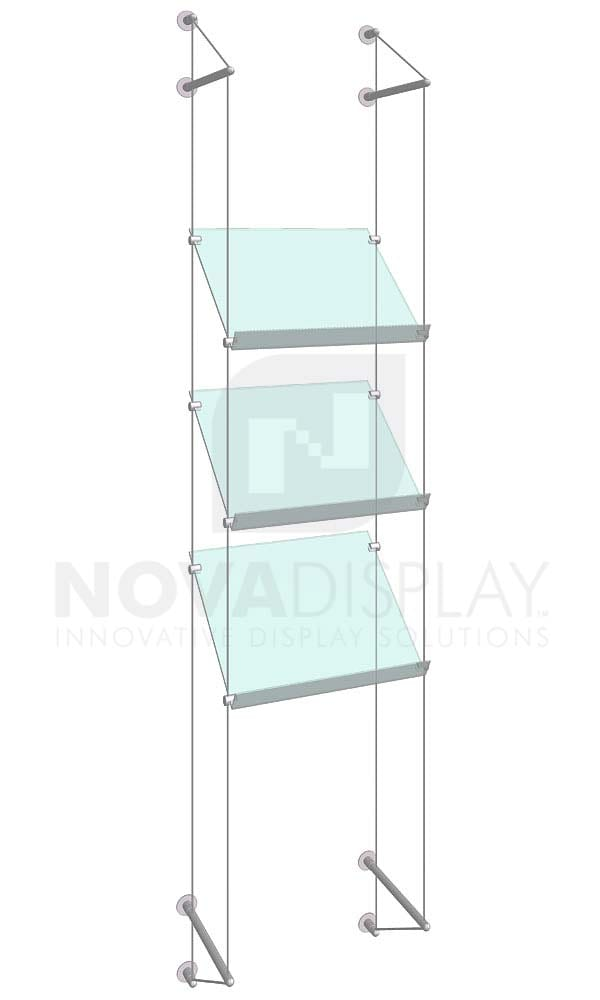 KSP-008_Acrylic-Sloped-Shelf-Display-Kit-wall-cable-suspended