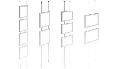 Rimless LED Backlit Displays