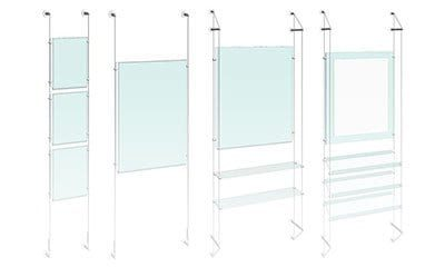 Cable/Rod Suspended Easy Access Poster Displays
