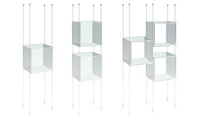 Cable/Rod Suspended Acrylic Showcase Displays