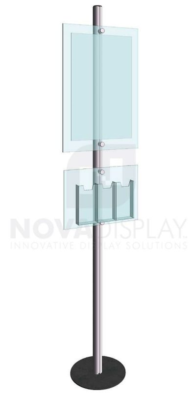 KFIP-009-Info-Post-Floor-Stand-Display-Kit