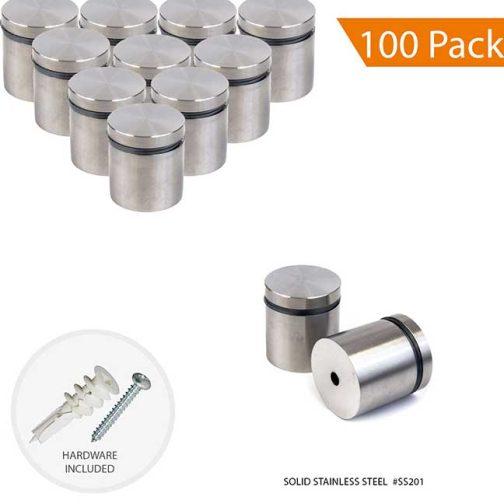 KWSS-3025-M10-P75-TWL-100PACK-Satinless-Steel-Standoffs