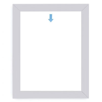 AnoFrame-aluminum-poster-frame-square-profile-front-view