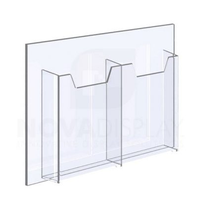 14ALD-2-3585-ST 1/8″ Clear Acrylic Leaflet Dispenser / Literature Holder – Double Pocket