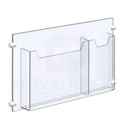 14ALD-2-MIX01-17+CG14_acrylic_leaflet_dispenser_and_cable_supports