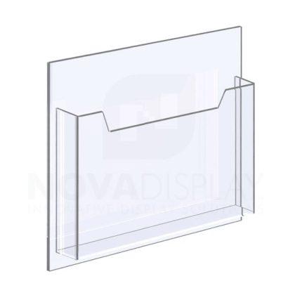 14ALD-8511L-12>15 1/8″ Clear Acrylic Leaflet Dispenser / Literature Holder – Single Pocket / Landscape