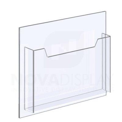 14ALD-8511L/ST 1/8″ Clear Acrylic Leaflet Dispenser / Literature Holder – Single Pocket / Landscape