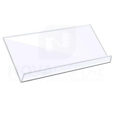 Sloping Acrylic Shelf - Clear