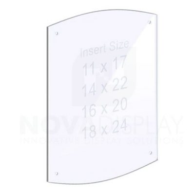 14ASP-2CR-PANEL-M4 1/4″ Clear Acrylic Arched Panel with Holes for M4 Studs – Polished Edges