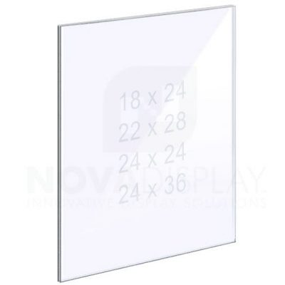 14ASP-PANEL-LR 1/4″ Clear Acrylic Panel without Holes – Polished Edges
