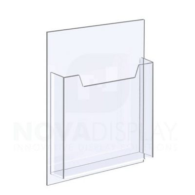 18ALD-8511P 1/8″ Clear Acrylic Leaflet Dispenser / Literature Holder – Single Pocket / Portrait