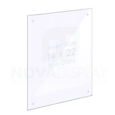18ASP-1422NG-RS 1/8″ Non-Glare Acrylic Panel with Holes for M4 Studs – Polished Edges