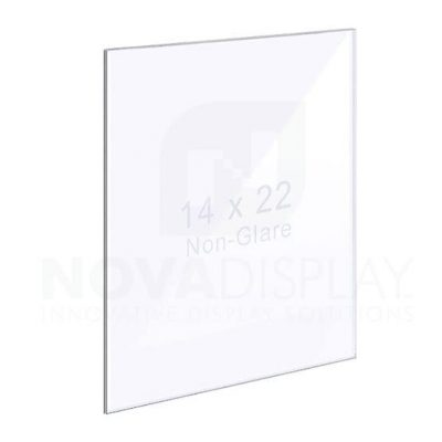 18ASP-1422NG-ST 1/8″ Non-Glare Acrylic Panel without Holes for KFST stands – Polished Edges