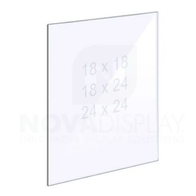 1/8″ Clear Acrylic Panel without Holes – Polished Edges.