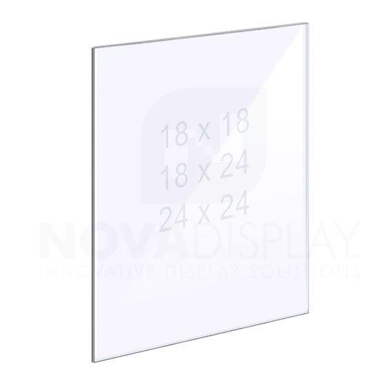 1/8″ Clear Acrylic Panel without Holes – Polished Edges.
