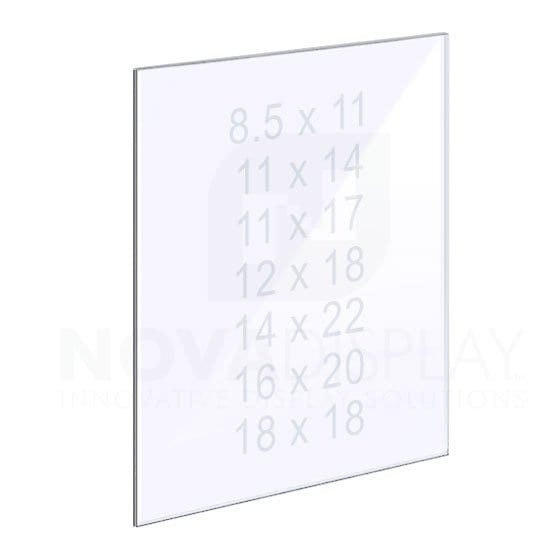 18ASP-PANEL-MD 1/8″ Clear Acrylic Panel without Holes – Polished Edges