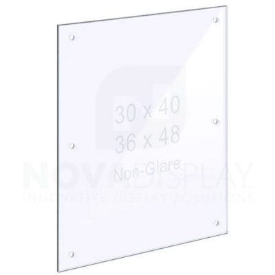 18ASP-PANEL-NG-M8:D6-LR 1/8″ Non-Glare Acrylic Panel with Holes for M8 Studs – Polished