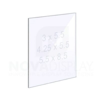 18ASP-PANEL-SM 1/8″ Clear Acrylic Panel without Holes – Polished Edges.